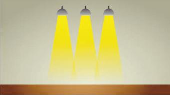 一般的なLEDの配光